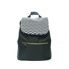 Черный рюкзак с зигзагами small TWINSSTORE Р27