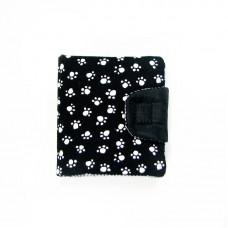 Чорний гаманець з лапками (К16)