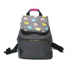 Серый рюкзак с котами small TWINSSTORE Р29