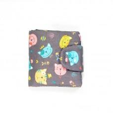 Сірий гаманець з котами (К5)
