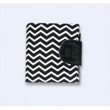 Чорний гаманець з зигзагами (К8)
