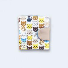 Бежевий гаманець з котами (К11)