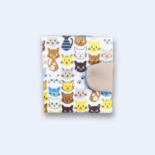 Бежевый кошелек с котами TWINSSTORE К11