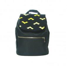Черный рюкзак с Бэтменом small TWINSSTORE Р26