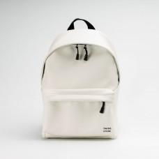 Белый кожаный большой рюкзак TWINSSTORE Р92