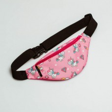 Дитяча рожева бананка pink unicorn TWINSSTORE БД231