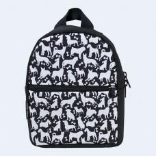 Детский черный рюкзак с собаками TWINSSTORE Р72