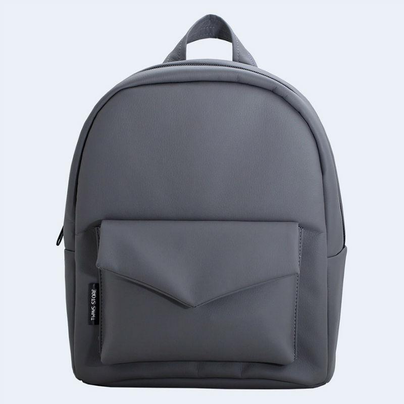 275e8b36aea2 Темно-серый кожаный рюкзак TWINSSTORE Р53 купить в Киеве недорого ...