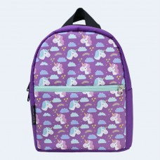Детский фиолетовый рюкзак с единорогами TWINSSTORE Р74