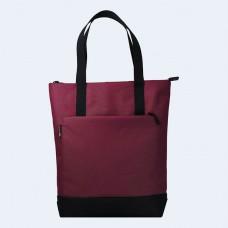 Бордовая сумка шоппер TWINSSTORE Ш150