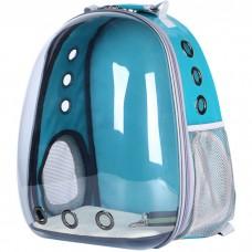 Прозрачный водонепроницаемый рюкзак-переноска для кошек и собак U-Pet зеленый