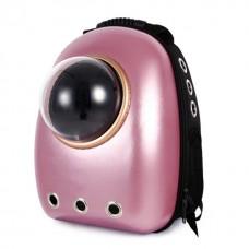 Рюкзак-переноска с иллюминатором U-Pet для кошек и небольших собак матовый розовый