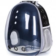 Прозрачный водонепроницаемый рюкзак-переноска для кошек и собак U-Pet черный