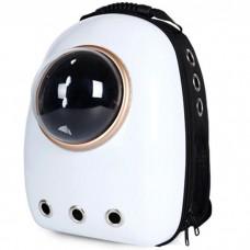 Рюкзак-переноска с иллюминатором U-Pet для кошек и небольших собак белый