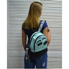Молодежный рюкзак «Глазки» голубого цвета 42501