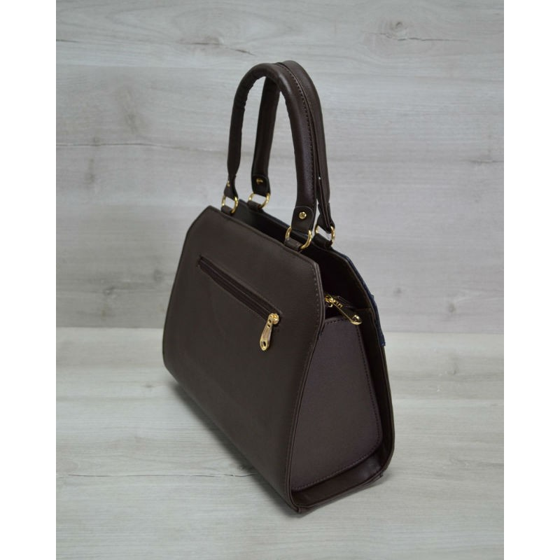 0bbf4a8b9314 ... Женская сумка Welassie Конверт коричневая с синей коброй 31804 ...