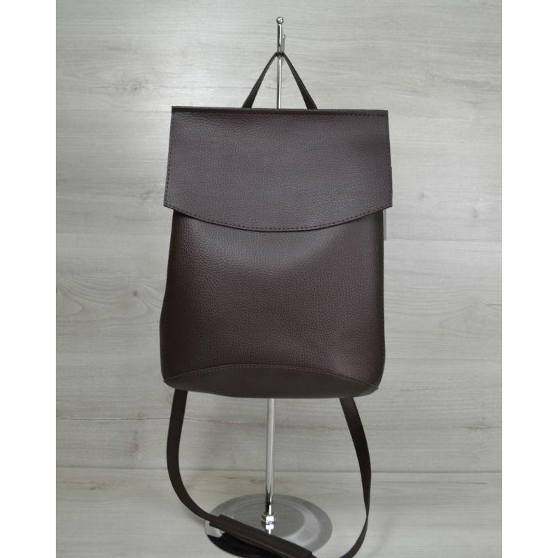 d819e1ed4dfb Молодежная сумка-рюкзак Welassie шоколадного цвета 44205 купить в ...