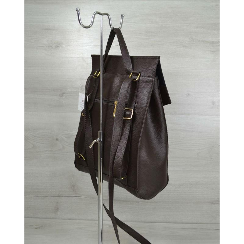 6124eefea133 Молодежная сумка-рюкзак Welassie шоколадного цвета 44205 купить в ...