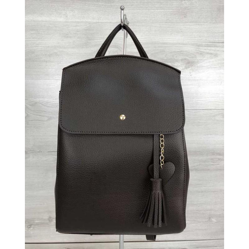 a2d0dd7745fa Молодежный сумка-рюкзак Welassie Сердце шоколадного цвета 44605 ...