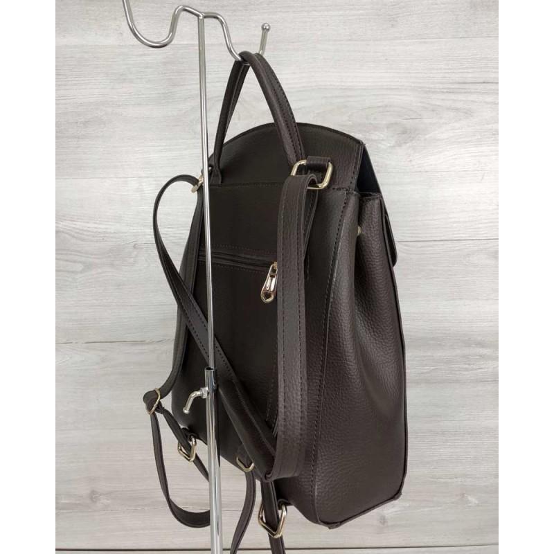 e0416c61c115 ... Молодежный сумка-рюкзак Welassie Сердце шоколадного цвета 44605 ...