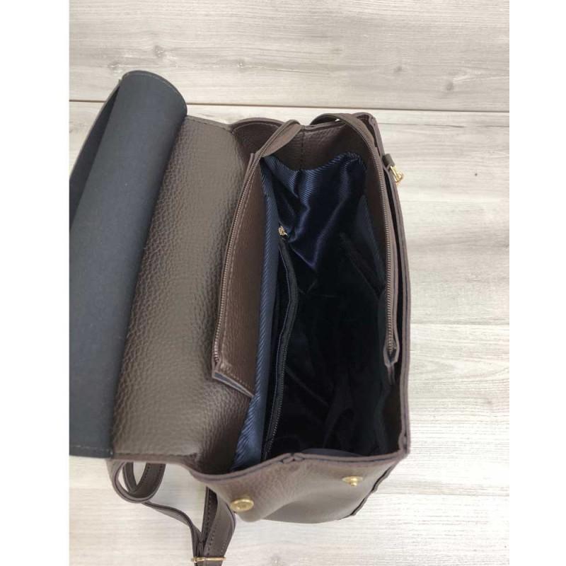 2a4b4237632a ... Молодежный сумка-рюкзак Welassie Сердце шоколадного цвета 44605