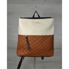 Молодежный рюкзак Welassie черного цвета с рыжими кубиками 43002