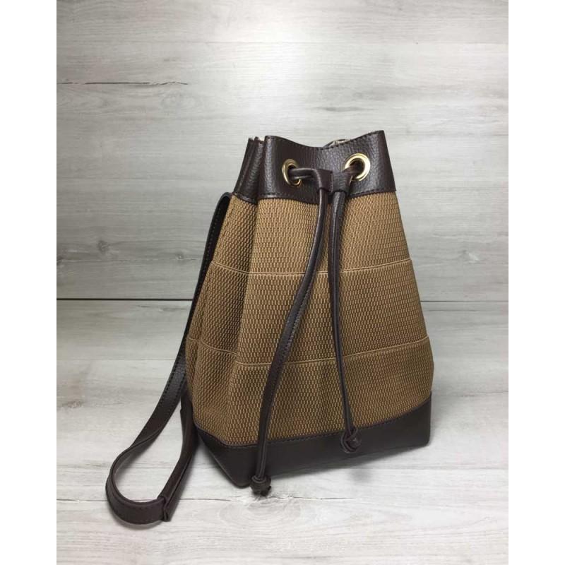 2f7b7315e9af Молодежный сумка-рюкзак Welassie Резинка кофейного цвета 44501 ...