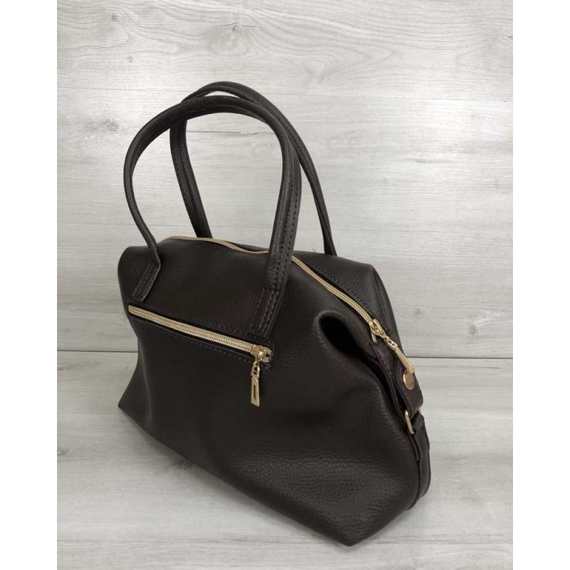 b10b9f29d0e0 Женская сумка Welassie Ирен шоколадного цвета 55705 Женская сумка Welassie  Ирен шоколадного цвета 55705 ...