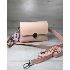 Женская сумка на пояс-клатч Welassie Белла пудрового цвета 60610