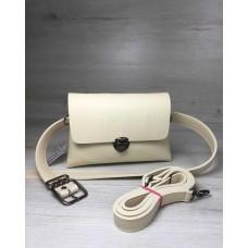 Женская сумка на пояс-клатч Welassie Белла бежевого цвета 60609