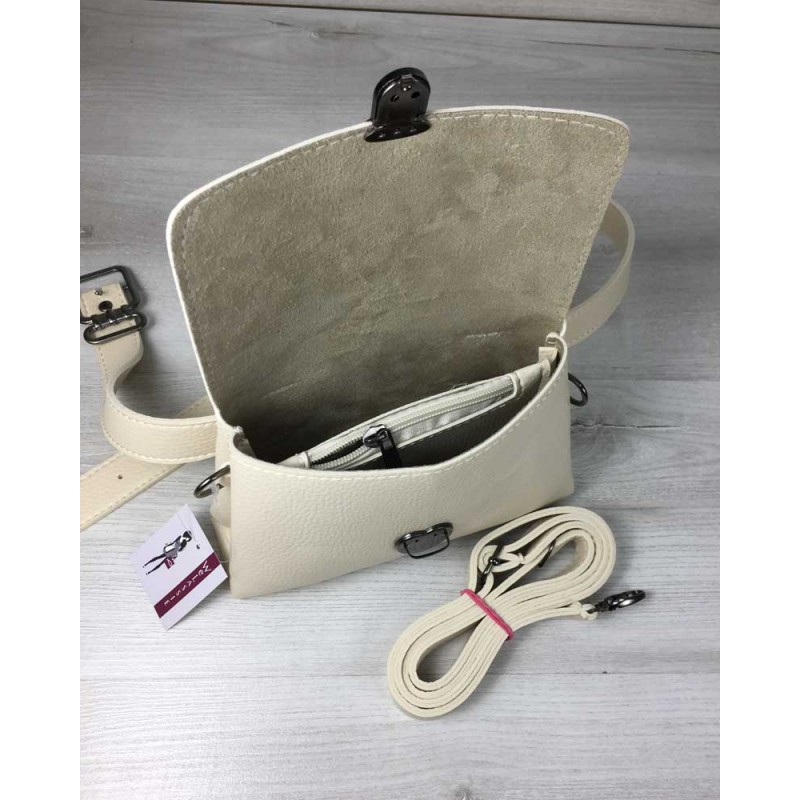 b1fe02a7c655 ... Женская сумка на пояс-клатч Welassie Белла бежевого цвета 60609