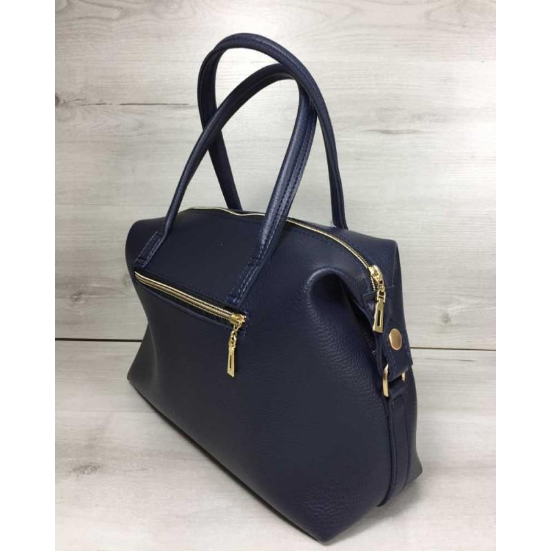 2dca9a0f9870 Женская сумка Welassie Ирен синего цвета 55703 купить в Киеве недорого