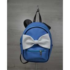 Молодежный рюкзак Welassie Мики голубого цветы 43206