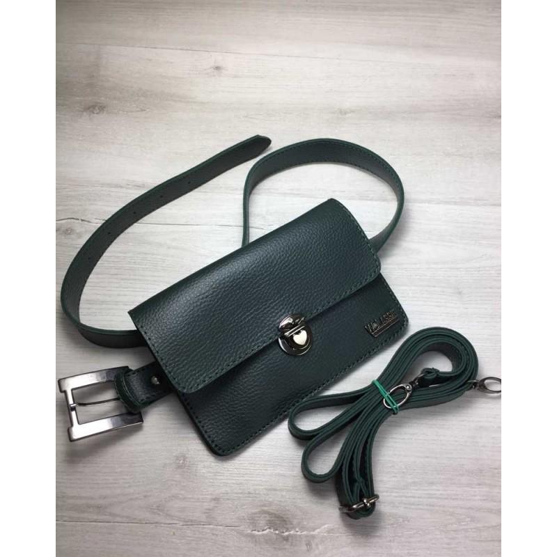 78d040e43495 Женская сумка на пояс-клатч Welassie Арья зеленого цвета 60408 ...