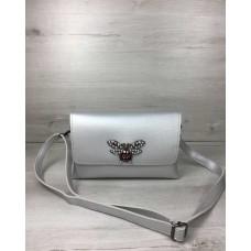 Женская сумка-клатч Welassie Келли серебряного цвета (никель) 60711