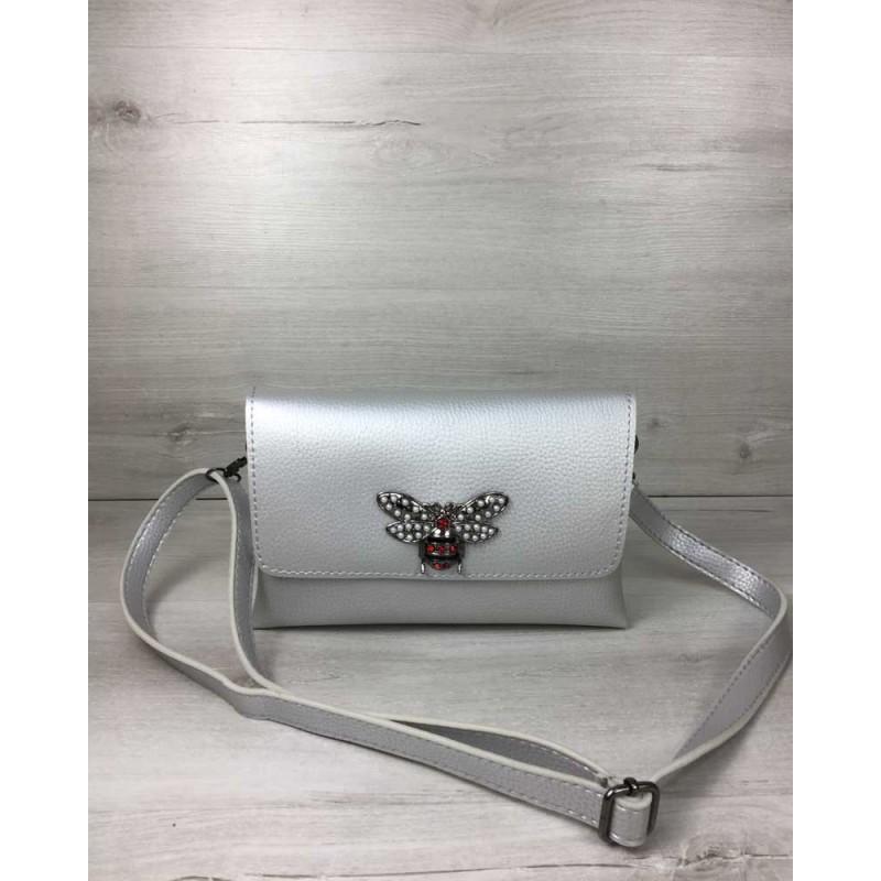 866fe1c01d38 Женская сумка-клатч Welassie Келли серебряного цвета (никель) 60711 ...