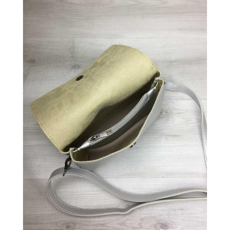 1497d769e9fd ... Женская сумка-клатч Welassie Келли серебряного цвета (никель) 60711 ...