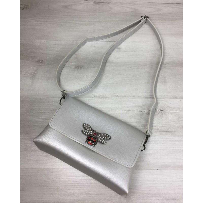 520b83878c86 ... Женская сумка-клатч Welassie Келли серебряного цвета (никель) 60711