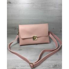 Женская сумка-клатч Welassie Келли пудрового цвета 60710