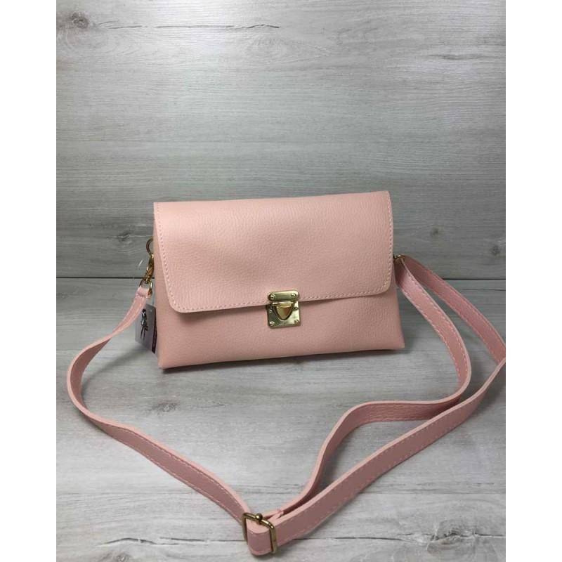 4fc8f57e4d25 Женская сумка-клатч Welassie Келли пудрового цвета 60710 купить в ...