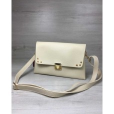 Женская сумка-клатч Welassie Келли бежевого цвета 60709