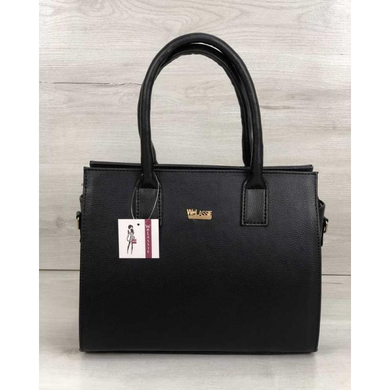cc790948ae63 Каркасная женская сумка Welassie Селин черного цвета 31215 купить в ...