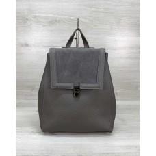 Сумка рюкзак «Луи» с замшем серый Welassie 46421