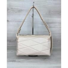 Жіноча сумка «Догі» бежева стьобана Welassie 64109
