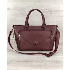 Стильна молодіжна сумка Сагари бордового кольору Welassie 54527
