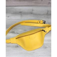 Жіноча сумка бананка «Tery» жовта Welassie T6315