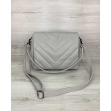 Жіноча сумка «Сара» сіра Welassie 64001