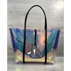 Пляжна сумка «2 в 1» перламутрова силіконова з чорним Welassie 56501