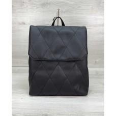 Стеганый сумка рюкзак черный Welassie 44004