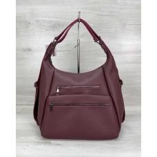 Женский сумка рюкзак «Голди» бордовый Welassie 59307